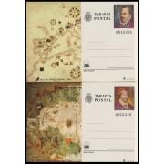 España Spain Entero Postal ( tarjeta ) 121/22 Espamer 1980 Mateo Prunes Juan de la Cosa