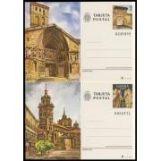 España Spain Entero Postal ( tarjeta ) 123/24 1980 Turismo Logroño Teruel