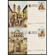 España Spain Entero Postal ( tarjeta ) 127/28 Turismo 1982 Albacete Toledo