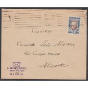 España Spain Franquicia Nº 10 1938 Alvarez Sereix Madrid a Alicante