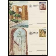 España Spain Entero Postal ( tarjeta ) 133/34 1983 Turismo Ávila Lugo