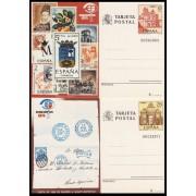 España Spain Entero Postal ( tarjeta ) 135/36 1984 Exposición Mundial de Filatelia