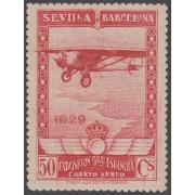 España Spain Variedad 451ccp (448/53) 1929 Expo Sevilla y Barcelona Avión MNH