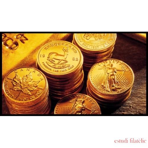 Monedas de Oro a peso por gramos al precio del día + 2,5% Au