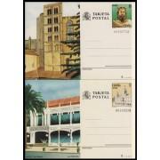 España Spain Entero Postal ( tarjeta ) 139/40 1985 Turismo La Coruña Girona