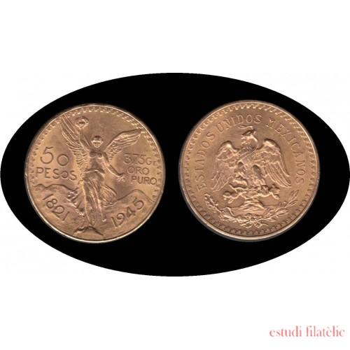 Mexico Mejico 50 pesos mejicanos 1945 37,5 gramos de oro puro Au
