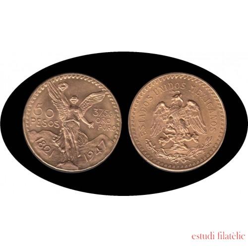 Mexico Mejico 50 pesos mejicanos 1947 37,5 gramos de oro puro Au