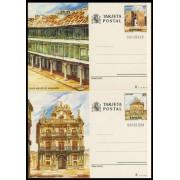 España Spain Entero Postal ( tarjeta ) 141/42 1986 Turismo Ciudad Real Navarra