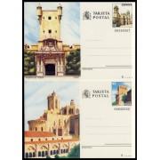España Spain Entero Postal ( tarjeta ) 145/46 1988 Turismo Cádiz Tarragona