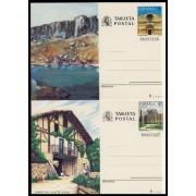 España Spain Entero Postal ( tarjeta ) 147/48 1989 Turismo Soria Álava
