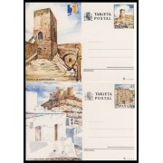 España Spain Entero Postal ( tarjeta ) 149/50 1990 Turismo Alicante Almería