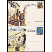 España Spain Entero Postal ( tarjeta ) 151/52 1991 Guadalajara San Sebastián Música Music flute source