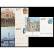 España Spain Entero Postal ( tarjeta ) 160/62 1996 Turismo Valladolid Lleida Huelva
