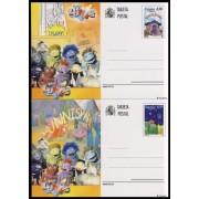España Spain Entero Postal ( tarjeta ) 171/72 2005 Los Lunnis