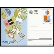 España Spain Entero Postal ( tarjeta ) 176 2007 Valores Cívicos