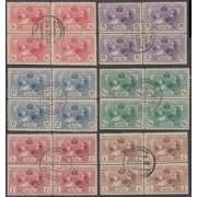 España Spain SR 1/6 Bl.4 1907 Expo Industria Matasello Conmemorativo Usados