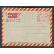 España Aerograma 115 1974 - 1975 Bicolor Franqueo mecánico previamente impreso