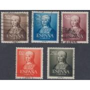España Spain 1092/96 1951 Isabel La Católica Usados