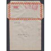 España Aerograma 145 1981 Bicolor Doble franqueo mecánico previamente impreso