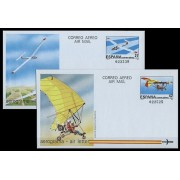 España  Aerogramas 209/10 1985 Velero clase óptima Ultraligero Avión Plane