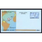 España Aerogramas 222 1997 1ª Travesía Atlántico,  Este a Oeste, en globo Air balloon
