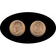 Mexico Mejico 10 pesos 1959 Miguel Hidalgo Costilla Oro Au