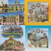 España Spain 2012 2 Carteras Oficiales Euros € Serie Autonomías Melilla Madrid +2€ con. Aniv. Euro + 2 medallas plata escudo