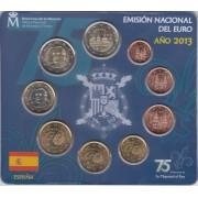 España Spain 2013 Cartera Oficial Euros € + moneda 2€ Conm. Monasterio de El Escorial  FNMT
