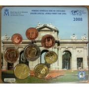 España Spain 2008 Cartera Oficial Euros €  Emisión Berlín FNMT Word Money Fair