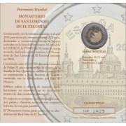 España Spain 2013 Cartera Oficial Moneda 2€ euros conmemorativos Proof Patriomio Monasterio de El Escorial  FNMT