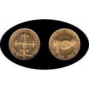 Andorra 250 diners 1988 700 An. del segon paretage oro Au