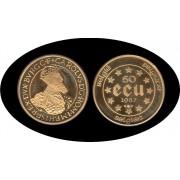 Bélgica Belgium Belgique 50 ecus 1987 Oro Au