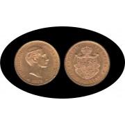 España Spain 25 ptas 1878 Alfonso XII  EM M oro Au