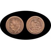 Mexico Mejico 5 pesos Hidalgo 1955 Oro Au gold