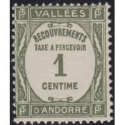 Andorra Francesa 16 -T 1935 Tipografía MNH