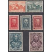 España Spain 559H/65H 1930 Descubrimiento de América Colon C.U.P.P. MH