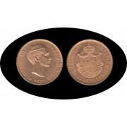 España Spain 25 ptas 1877 Alfonso XII oro Au