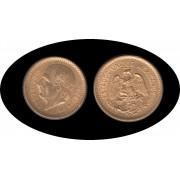Mexico Mejico 10 pesos Hidalgo 1906 Oro Au