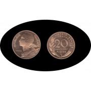 Francia France 20 ct 1972 Piefort Tirage : 250 pieces Oro Au