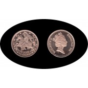 Gibraltar 1991 70 Ecus 50 pounds Oro Au