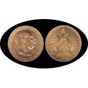 Austria Öesterreich 100 coronas 1915 Franz JosepH I Oro Au gold