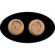Mexico Mejico 2 1/2 pesos 1945 Miguel Hidalgo Oro Au gold