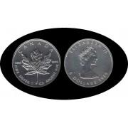 Canadá Canada Onza de plata 5 $ 1989 Maple Leaf Elisabeth II