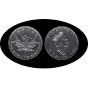 Canadá Canada Onza de plata 5 $ 1995  Maple Leaf Elisabeth II