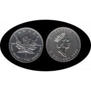 Canadá Canada Onza de plata 5 $ 1996 Maple Leaf Elisabeth II