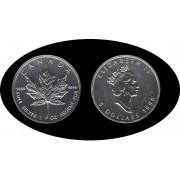 Canadá Canada Onza de plata 5 $ 1998 Maple Tree Elisabeth II