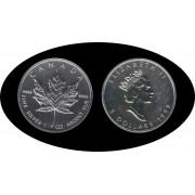 Canadá Canada Onza de plata 5 $ 1999 Maple Leaf Elisabeth II