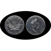Canadá Canada Onza de plata 5 $ 2002 Maple Leaf Elisabeth II