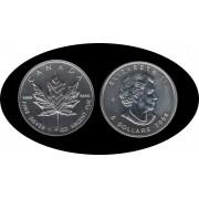 Canadá Canada Onza de plata 5 $ 2004 Maple Leaf Elisabeth II