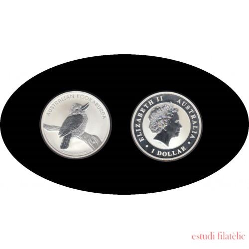 Australia Kookaburra 2010 1 onza de plata 1$ 999 Ag